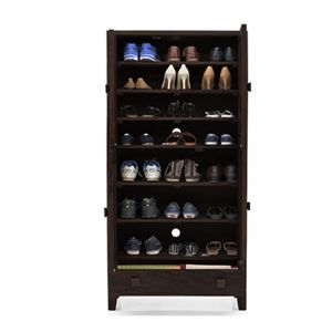 Inhouz Sheesham Wood Genusher Shoe Rack (walnut Finish)