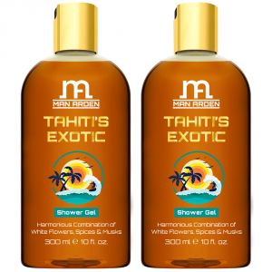 Man Arden Tahitis Exotic Luxury Shower Gel Body Wash - 300 Ml - Pack Of 2