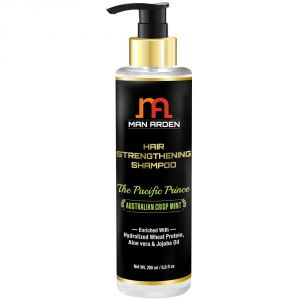 Man Arden Hair Strengthening Shampoo - The Pacific Prince - With Keratix, Hydrolized Wheat Protein & Jojoba Oil 200ml
