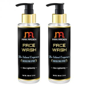 Man Arden Face Wash - The Island Emperor (energizing Sport) - Skin Lightening 100ml - Pack Of 2