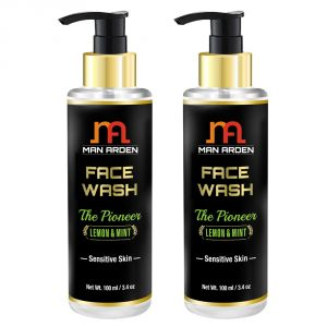 Man Arden Face Wash - The Pioneer (lemon & Mint) Sensitive Skin 100ml - Pack Of 2