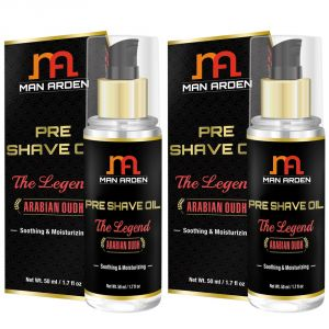 Man Arden Pre Shave Oil - The Legend (arabian Oudh) - Soothing & Moisturizing 50ml - Pack Of 2