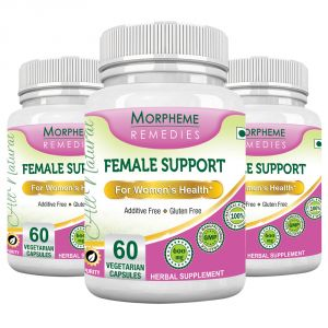 Morpheme Female Support 600mg Extract 60 Veg Caps - 3 Bottles
