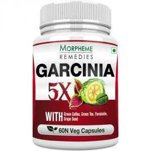Morpheme Garcinia 5x (garcinia, Coffee, Green Tea, Forskolin, Grape Seed) 60 Veg Caps