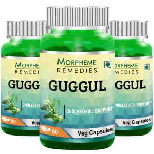 Morpheme Guggul (commiphora Mukul) 500mg Extract 60 Veg Caps - 3 Bottles