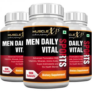 Musclexp Men Daily Vital Sports Multivitamin - 90 Tablets (pack Of 3)