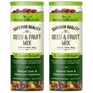 Nourishvitals Seed & Fruit Mix - A Sweet Delight 150 Gm - Pack Of 2
