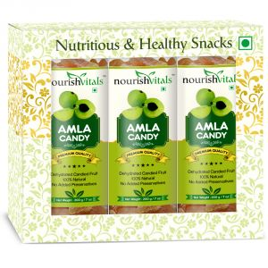 Nourishvitals Amla Dried Fruit (dehydrated Fruits) - 200 Gm - Pack Of 3