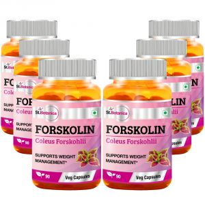St.botanica Forskolin 500mg Extract - 90 Veg Caps - Pack Of 6