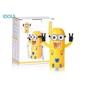 Toothbrush holders - 3 IN 1 MINION MOUTH-RISING CUP TOOTHPASTE DISPENSER