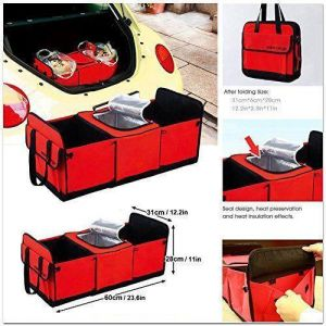 Car Trunk Organizer With Cooler Storage