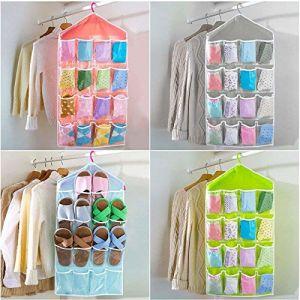 Multi Function Clear Hanging Bag For Socks Bra Underwear Cupboard Rack Hanger Storage Organiser