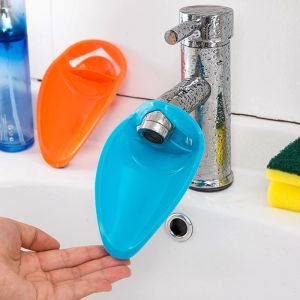 Bath taps - 2PC Slot Silicone Bathroom Water Tank Water Tap Extension Device Kids Washing Hands Lengthening Device