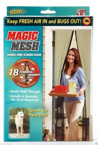 Curtains - Magnetic Magic Mesh Handsfree Screen Door Curtain