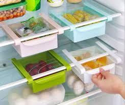Kitchen Utilities (Misc) - 2 x Refrigerator Fridge Multi-Partition Storage Rack Fresh Layer Rack Sliding Drawer