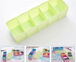 Bedroom Furniture - Multi-function Desktop Drawer Storage Box Clothing Organizer Five Grid Storage Box Underwear Socks Bra Ties Organizer