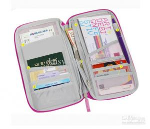 Travel organisers - Travel Passport Wallet Document Holder Canvas Organizer Bag Purse card purse