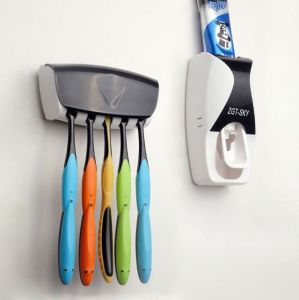 Bathroom Essentials - Automatic Toothpaste Dispenser With Brush Holder