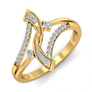 Diamond Rings - The Niti Ribbon Ring NS101-LRG-RN3459