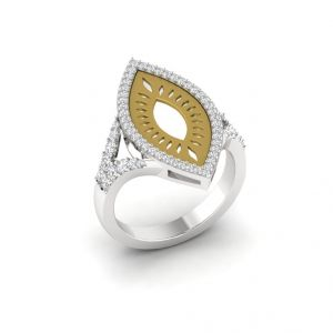 Diamond Rings - The Elegant Paisley Ring R0010C