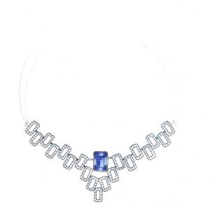 Diamond Necklaces, Sets - The Celestial Necklace SNJ101-NL100
