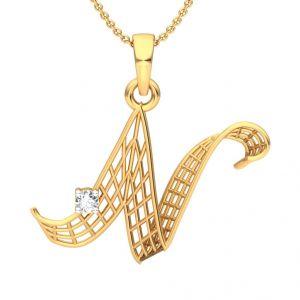 Diamond Jewellery - The 'N' Alphabet Pendant SD-PN600