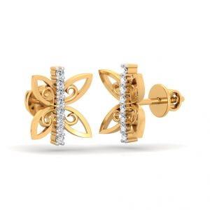 Diamond Jewellery - The Elena Butterfly Earrings SDER-216