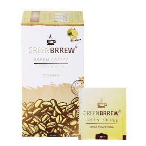 Tea, Coffee - Greenbrrew Instant Green Coffee Beans Extract (Lemon Flavour) - 20'sachets (PACK of 5)