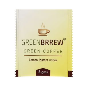 Greenbrrew Lemon Instant Green Coffee 20 Sachets, 60 Gm (pack Of 2)