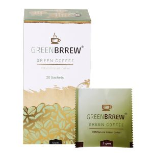 Greenbrrew Instant Green Coffee For Weight Loss, 20 Sachets (pack Of 5)