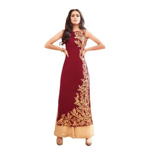 Bollywood Replica Party Wear Graceful Red Georgette Party Wear Anarkali Suit 125f4f07dm