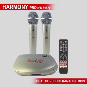 Harmony Pro With Dual Wireless Karaoke Microphone