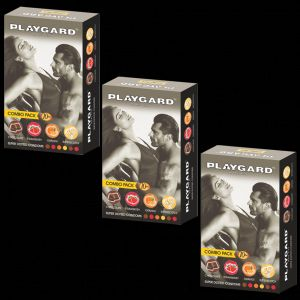 Playgard Super Dotted Multi-flavoured Condoms Combo (10 X 3 Packs = 30 Condoms)