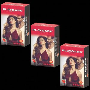 Playgard Super Dotted Strawberry Condoms (10 X 3 Packs = 30 Condoms)