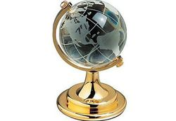 Desk Accessories - Crystal Golden Globe Glass office Desk Accessory Corporate Giftin HD516