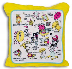 Baby Care Sets - Pamper hamper's special Pregnancy Keepsake Cushion