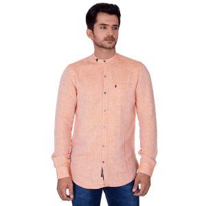 Mercury Men's Wear - Mercury Men's Orange Linen Shirt  J-637-C