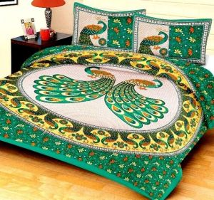Home Castle Jaipuri Rajwada Double Bedsheet With 2 Pillow Covers