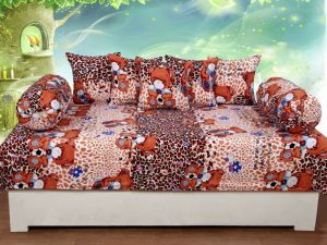 Trendz Home Furnishing Printed 8 Piece Diwan Set - Vi243