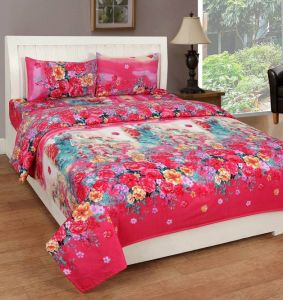 Bed Sheets - 3d King size designer bedsheet (3dkb011)