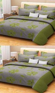 Shree Jee Combo Of 3d Polyester Double Bed-sheet ( Code-cfrt09 )
