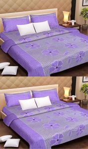 Shree Jee Combo Of 3d Polyester Double Bed-sheet ( Code-cfrt10 )