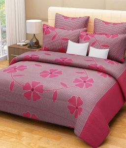 Shree Jee Combo Of 3d Polyester Double Bed-sheet ( Code-frt11 )
