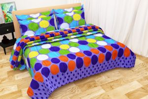 Shree Jee Combo Of 3d Polyester Double Bed-sheet (code - 3ddb1001)