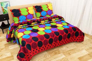 Shree Jee Combo Of 3d Polyester Double Bed-sheet (code - 3ddb1002)