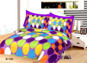 Shree Jee 3d Polyester Double Bedsheet With Two Pillow Covers (code - 3ddb02)