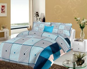 Shree Jee 3d Polyester Double Bedsheet With Two Pillow Covers (code - 3ddb03)