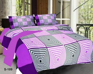Shree Jee 3d Polyester Double Bedsheet With Two Pillow Covers (code - 3ddb04)
