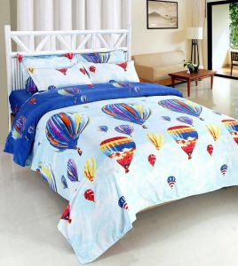 Shree Jee 3d Polyester Double Bedsheet With Two Pillow Covers (code - 3ddb09)