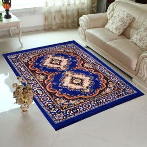 Home Elite Blue Colored Traditional Design Jute Filling Sheet Carpet (5 X7 Feet) - (product Code - Rg-crt-216)